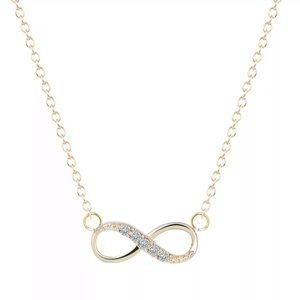 Gold Filled Cubic Zirconia Infinity Necklace